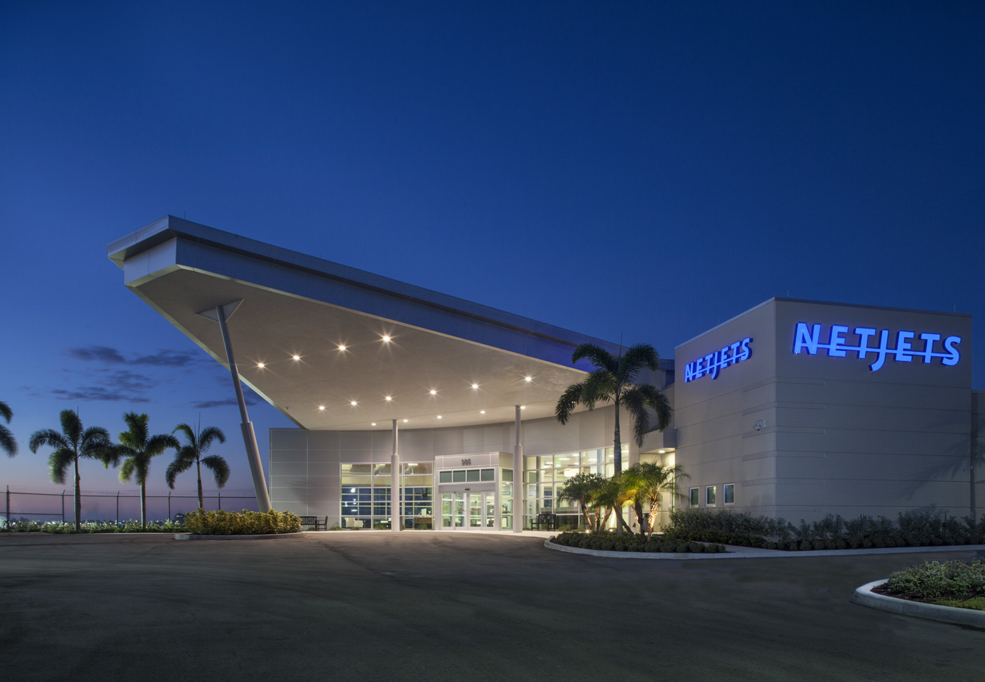 Our electrical contracting firm in Palm City was honored to be the primary electrical contractor for the Netjets Aviation Terminal