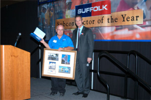 Our licensed electrical construction firm proudly receives the Suffolk Sub-Contractor of the Year Award in Palm City.
